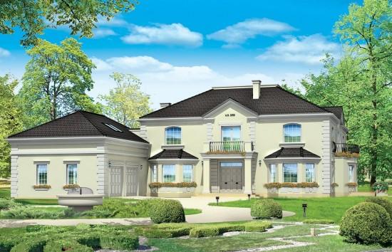Projekt domu Regent - wizualizacja frontowa