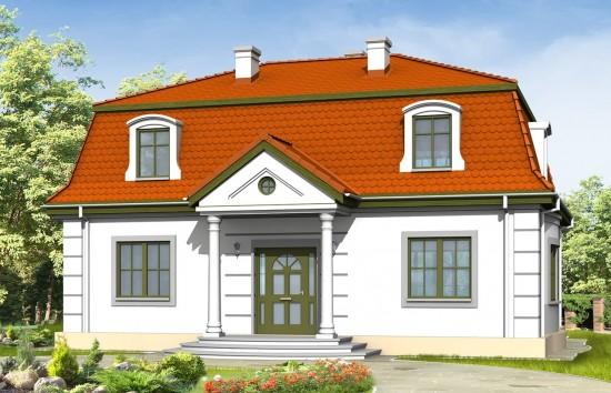 Projekt domu Retro - wizualizacja frontowa