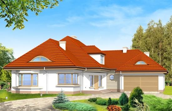 Projekt domu Rezydencja - wizualizacja frontowa
