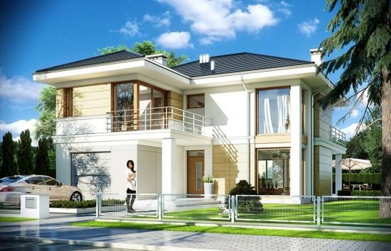 Projekt domu Riwiera 2 - wizualizacja frontowa
