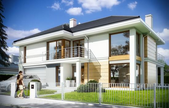 Projekt domu Riwiera 3 - wizualizacja frontowa