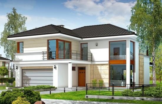 Projekt domu Riwiera - wizualizacja frontowa