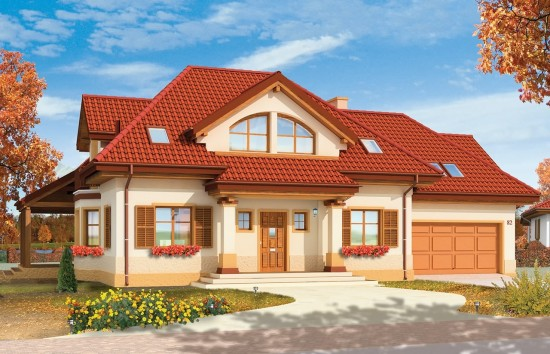 Projekt domu Rubin - wizualizacja frontowa