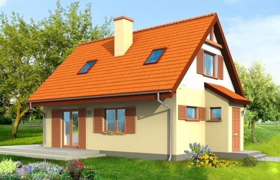Projekt domu Smyk - wizualizacja frontowa