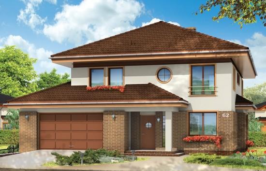 Projekt domu Sonet - wizualizacja frontowa