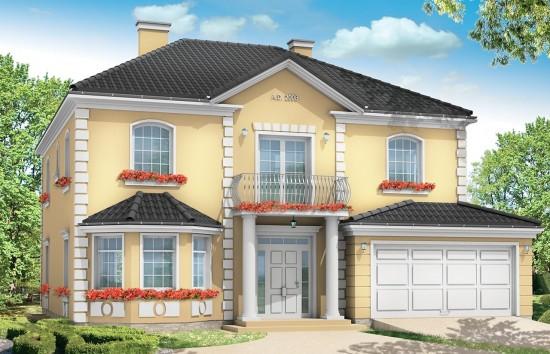 Projekt domu Stylowy - wizualizacja frontowa