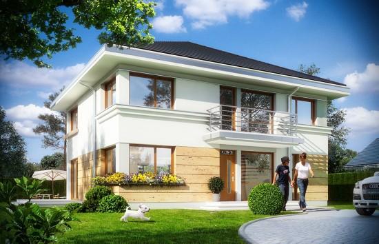 Projekt domu Szafir - wizualizacja frontowa