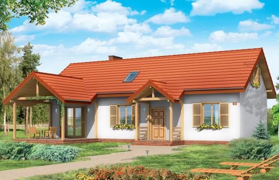 Projekt domu Szczygieł - wizualizacja frontowa