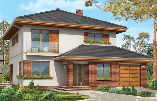 Projekt domu Szmaragd 3 - wizualizacja frontowa