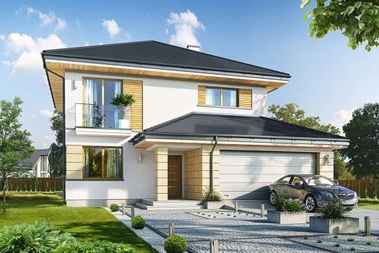 Projekt domu Szmaragd 6 - wizualizacja frontowa