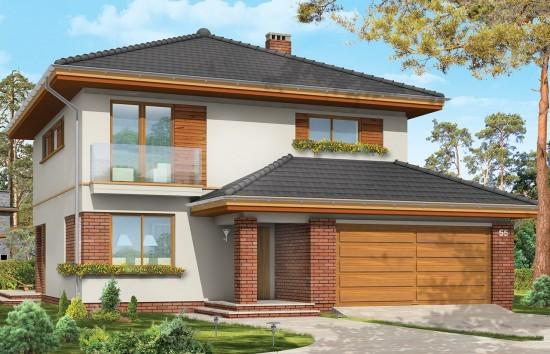 Projekt domu Szmaragd - wizualizacja frontowa