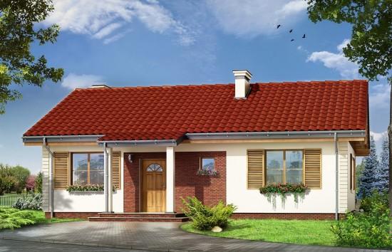 Projekt domu Szpak - wizualizacja frontowa