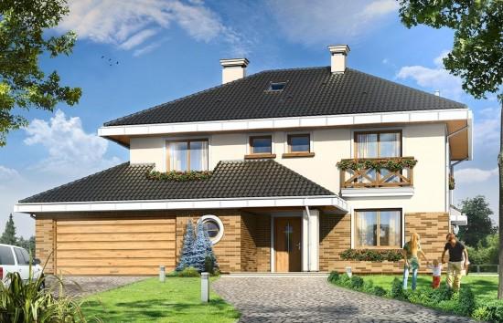 Projekt domu Tukan - wizualizacja frontowa