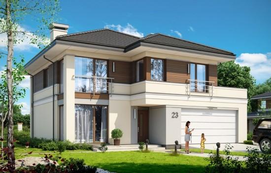 Projekt domu Tytan 3 - wizualizacja frontowa