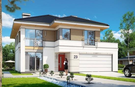 Projekt domu Tytan 4 - wizualizacja frontowa