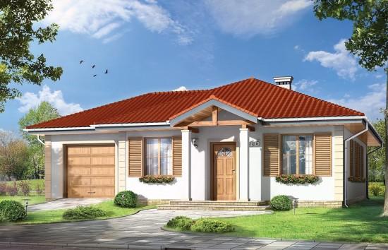 Projekt domu Urwis 2 - wizualizacja frontowa