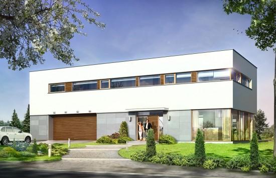 Projekt domu Vertigo - wizualizacja frontowa