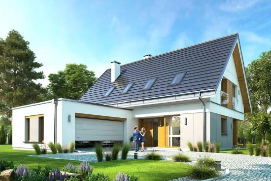 Projekt domu Viking - wizualizacja frontowa