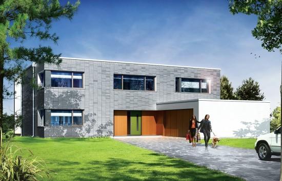 Projekt domu Villa Nova - wizualizacja frontowa