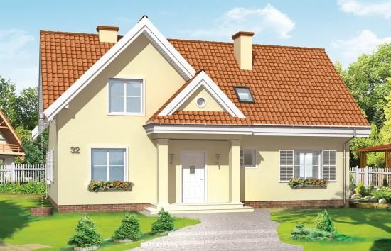Projekt domu Wesoły - wizualizacja frontowa