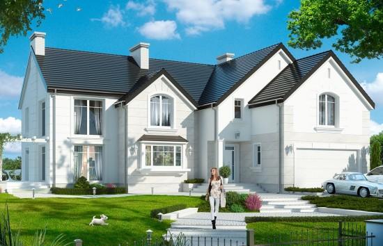 Projekt domu Willa Anna Maria - wizualizacja frontowa