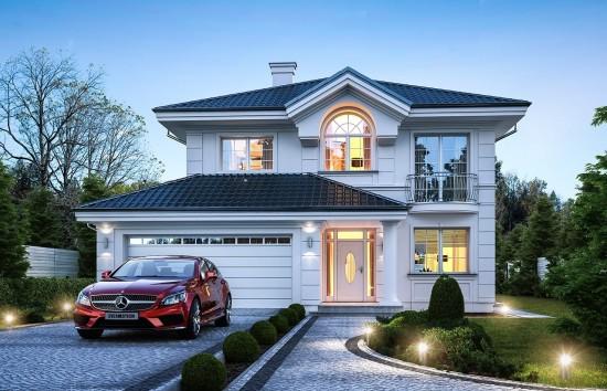 Projekt domu Willa diamentowa - wizualizacja frontowa