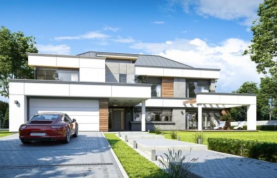 Projekt domu Willa Floryda 4 - wizualizacja frontowa