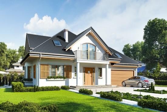 Projekt domu Willa Julia 2 - wizualizacja frontowa