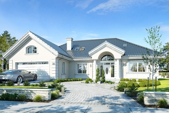 Projekt domu Willa parkowa 4 - wizualizacja frontowa