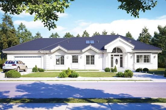 Projekt domu Willa Parkowa C - wizualizacja frontowa