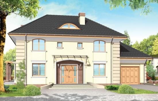 Projekt domu Willowy - wizualizacja frontowa