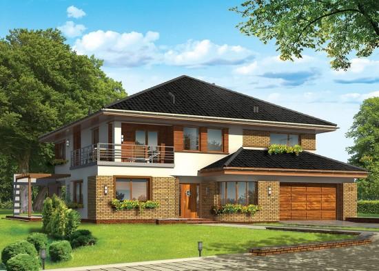 Projekt domu Wiola - wizualizacja frontowa
