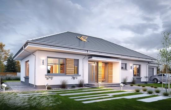 Projekt domu Wymarzony 11 - wizualizacja frontowa