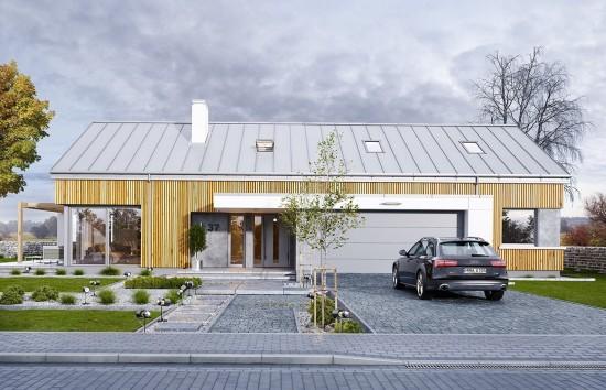 Projekt domu Wymarzony 4 - wizualziacja frontowa