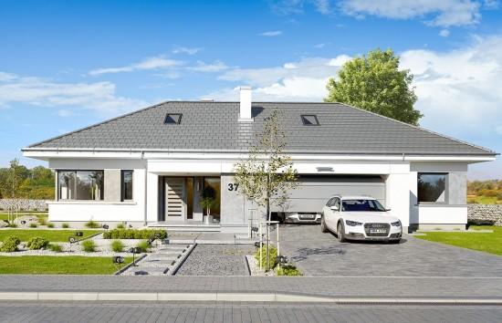 Projekt domu Wymarzony 6 - wizualizacja frontowa