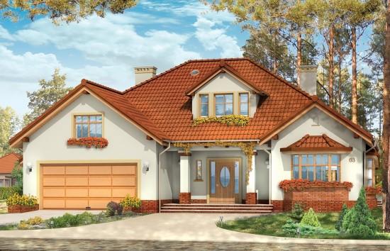 Projekt domu Zacisze 3 - wizualizacja frontowa