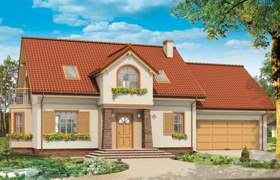 Projekt domu Zgrabny 5 - wizualizacja frontowa