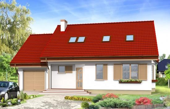Projekt domu Zgrabny - wizualizacja frontowa