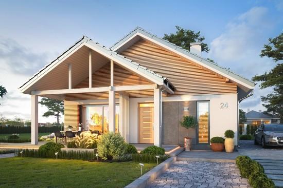 Projekt domu Dom na południowej 2 wizualizacja frontu
