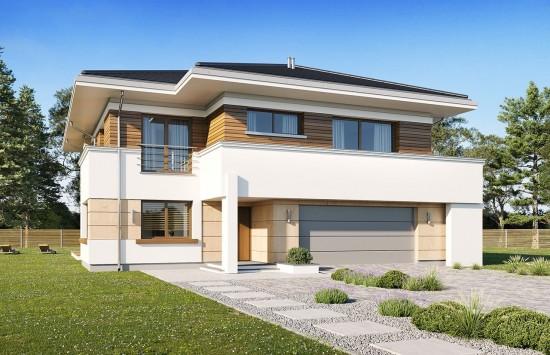 Projekt domu Oceanic wariant B - wizualizacja frontowa