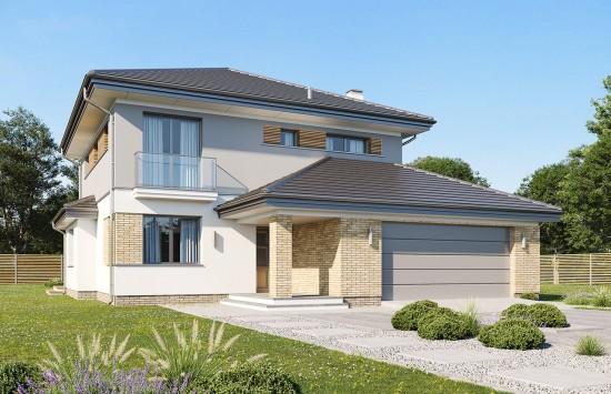 Projekt domu Szmaragd 5 B - wizualizacja frontowa