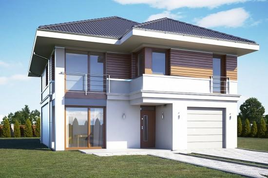 Projekt domu Tytan wariant B - wizualizacja frontowa