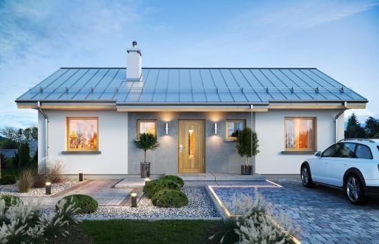 Projekt domu Sensowny - wizualizacja frontu