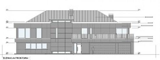 Projekt domu Willa Floryda wariant F - front