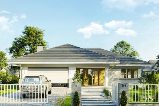 Projekt domu Doskonały 2 C - wizualizacja frontowa