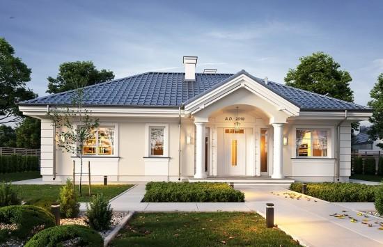 Projekt domu Willa rodzinna 2 - wizualizacja frontu