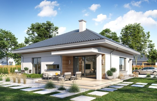 Projekt domu Wspaniały 2 - wizualizacja tylna