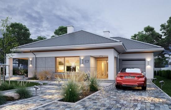 Projekt domu Wspaniały - wizualizacja frontu