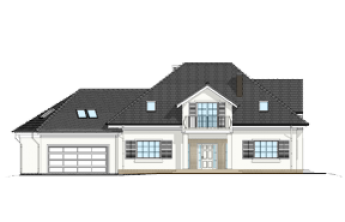 Dom z kolumnami wariant B